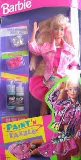 amazon barbie paint u0027n dazzle doll blonde 1993 toys