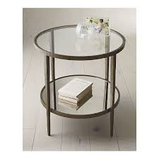 crate and barrel accent tables mirror glass forged metal simply perfect clairemont accent table