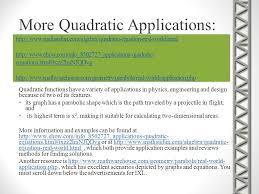more quadratic s