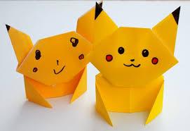 Step By Step Origami For - easy origami pikachu tutorial pink stripey socks
