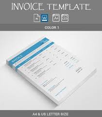 27 blank invoice templates free word pdf psd indesign