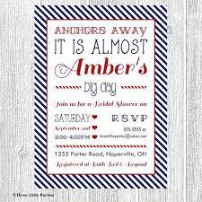 nautical bridal shower invitations nautical bridal shower invitations plus anchors away nautical