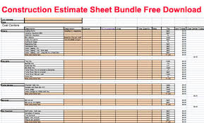 Siding Estimate Template by Construction Estimate Template Sheet Bundle For Free