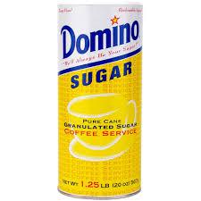 domino domino sugar canister 20 oz hanson beverage service