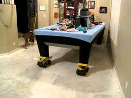 how to put a pool table together how to move a pool table with one person youtube