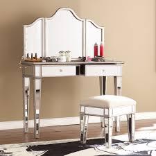 Vanity Chairs And Stools House Of Hampton 2 Piece Kaila Mirrored Vanity U0026 Stool Set