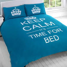 Duvet Covers Teal Blue Just Contempo Keep Calm Duvet Cover Set Single Teal Amazon Co