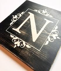 monogram plaques personalized rustic last name sign by littlemorelovesignco on etsy