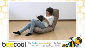 Foldable Chair Bed by Foldable Sofa Youtube