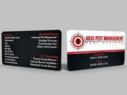 business card design for auss pest management by design