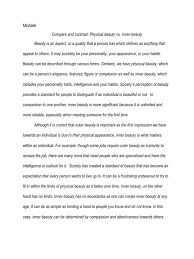 compare and contrast essay sample for college college inner beauty essay inner beauty essay outline inner and college inner beauty essay massage therapy cover letter sample resume cv inner templates therapist dentist formats