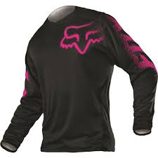 bike riding jackets all new fox racing 2015 womens blackout jersey black pink wide