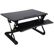 Sit Or Stand Desk by Professional Sit Stand Desk 890mm Black Officeworks