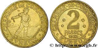chambre du commerce evreux chambre de commerce d evreux 2 francs evreux fnc 237174 nécessité
