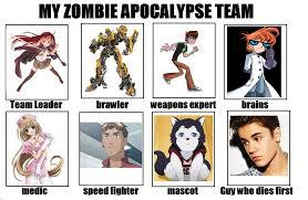 My Zombie Apocalypse Team Meme Creator - snitchpogi12 s my zombie apocalypse team know your meme