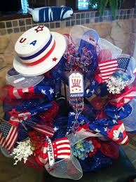 Fourth Of July Door Decorations 52 Weeks Of Pinspiration Week 25 U2013fourth Of July Deco Mesh Wreath