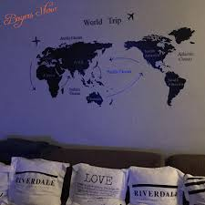 aliexpress com buy free shipping 140x80cm new design world map aliexpress com buy free shipping 140x80cm new design world map removable wall art stickers vinyl sticker map of the world for sofa background from