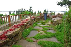 backyard design garden stone pathway ideas kindesign carolbaldwin