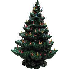large vintage ceramic tree light up base faux