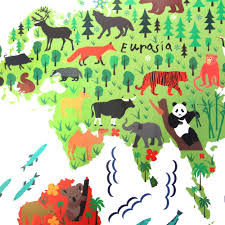 Kids World Map by 2016 Zy037 Cute Animal World Map Wall Sticker Kids Room Removable