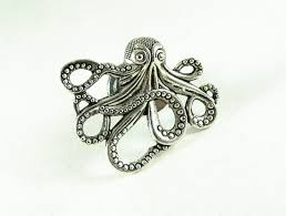 silver octopus drawer or door pull home improvement home decor