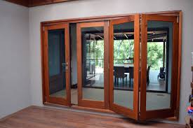 awesome modern home bifold door interior design come with glass