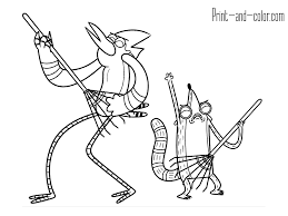 regular show coloring pages regular show coloring pages print and