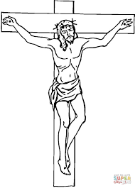 jesus on cross coloring page coloring page