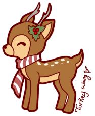 christmas deer christmas deer by turkey wang on deviantart