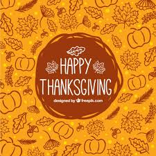 sketchy thanksgiving background vector free