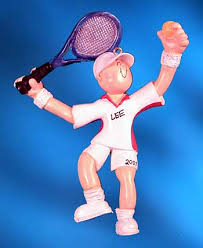personalized tennis ornaments ornaments with