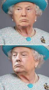 Face Replace Meme - someone is photoshopping trump s face on the queen and the results