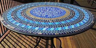 how to make a mosaic table top make a mosaic table top with these step by step instructions