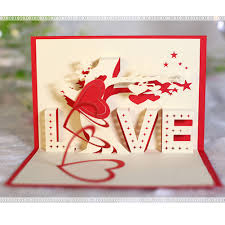 anniversary greeting cards 3d pop up heart cards lover anniversary greeting