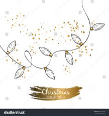 Invitation Cards For Christmas Vector Template Image Christmas Garland Perfect Stock Vector
