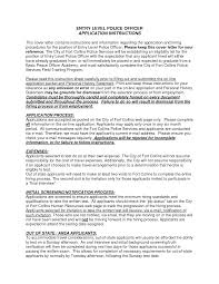 Sample Resume Cover Sheet by Police Trainer Cover Letter