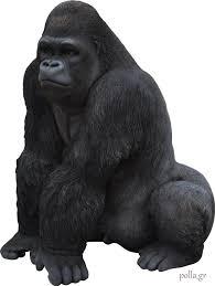 garden sculpture statue perch animal ornament gorilla home