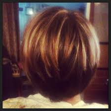 how to cut hair so it stacks hair stack inverted bob brown with blonde and red highlights