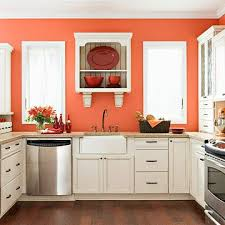 Orange And White Kitchen Ideas Kitchen Walls Kitchen Design Ideas