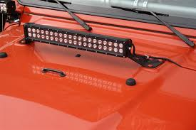 orange led light bar rock hard 4x4 trade 20 led light bar hood mount for jeep wrangler