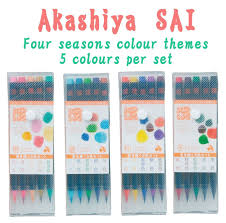 akashiya sai 5 colour set spring summer autumn or winter