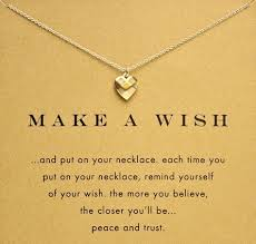 wish necklace images Make a wish gold heart necklace jpg