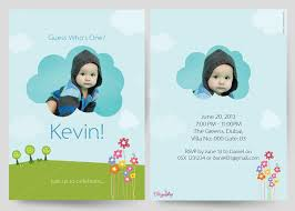 first birthday invitation cards customised printed birthday