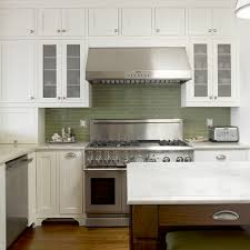 white kitchen with green backsplash design ideas