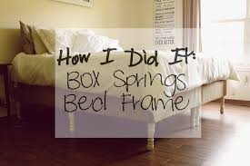 How To Make A Box Bed Frame How We Did It Diy Box Springs Bed Frame Mrs Robbins Sparkles