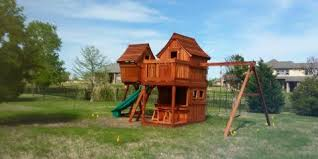 backyard playsets healthy or fun wooden swing co dallas