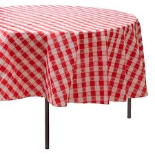 pink round table covers red gingham round table cover shindigz
