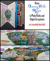 disney parks map disney parks maps in a photo book or digital scrapbook no