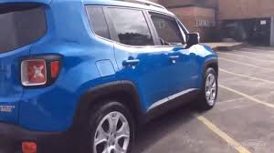 jeep renegade blue jeep renegade limited blue 2016 youtube