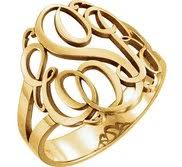 Monogram Ring Gold Monogram Rings U2013 Gold Monogram Initial Rings And Silver Initial Rings